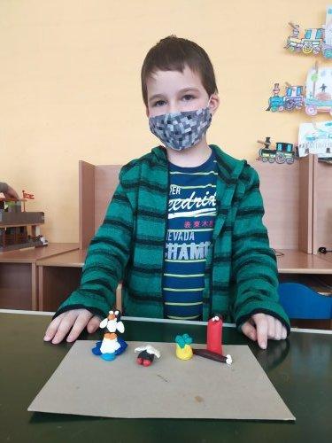 Žáci 2. třídy modelovali