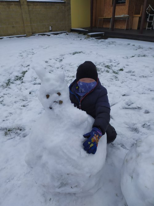 Sněhové hrátky žáků 2.třídy